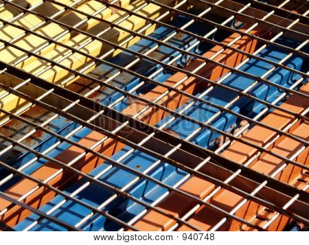 Steel Beams And Wire Mesh