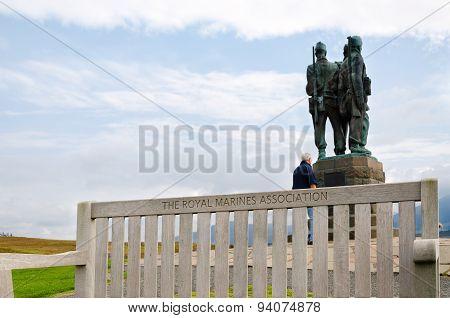 Commando Memorial, Scotland - The Royal Marines Association poster