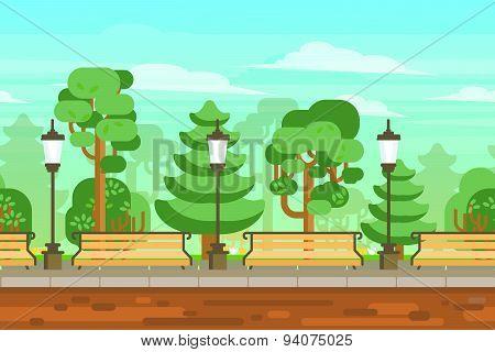 Summer Garden Landscape Poster