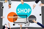 Shop Product Customer Buying Commercial Consumer Concept poster