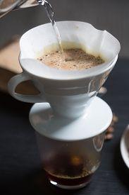 Preparing Coffee In A Manual Filter