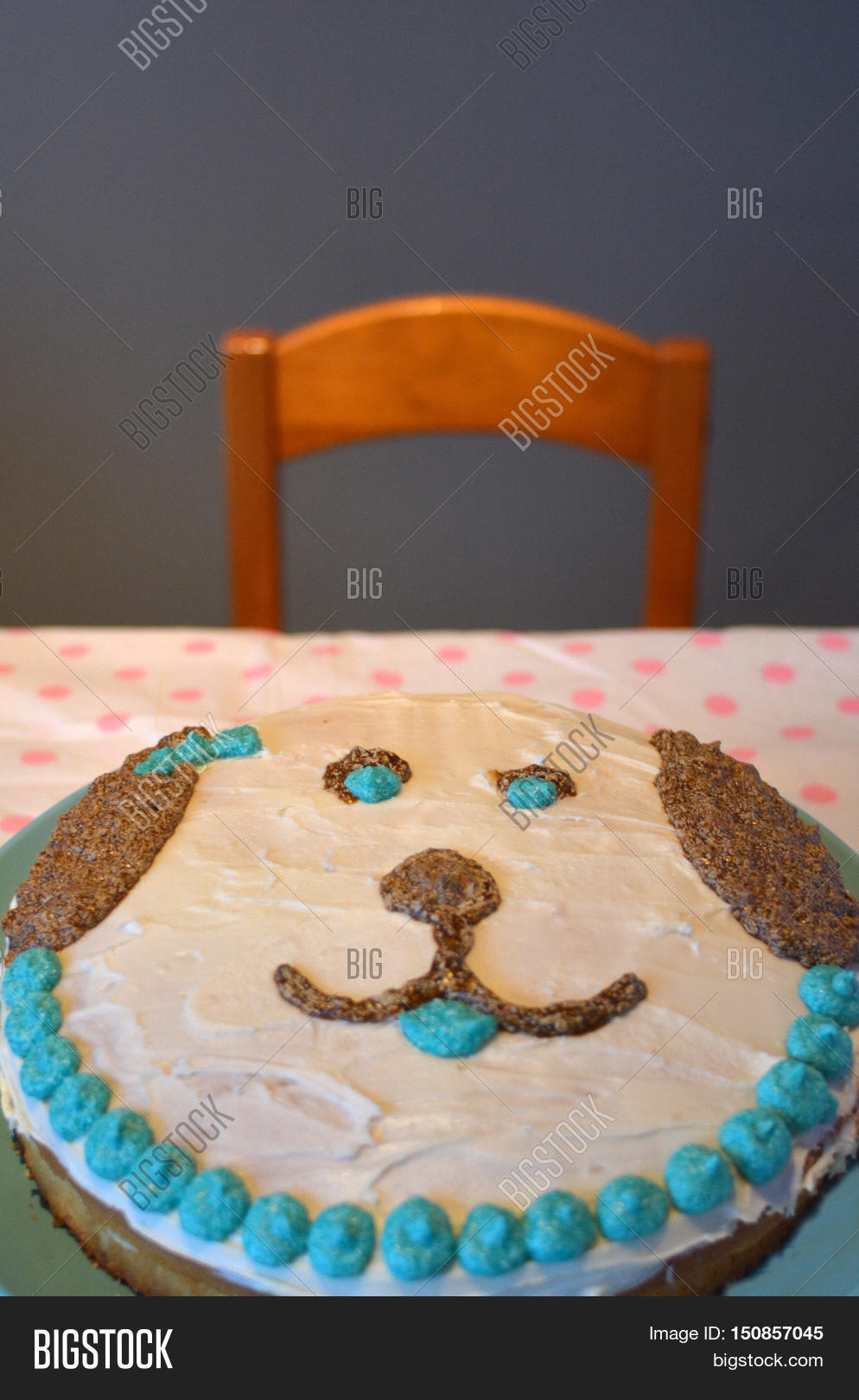Homemade Birthday Cake Image Photo Free Trial Bigstock