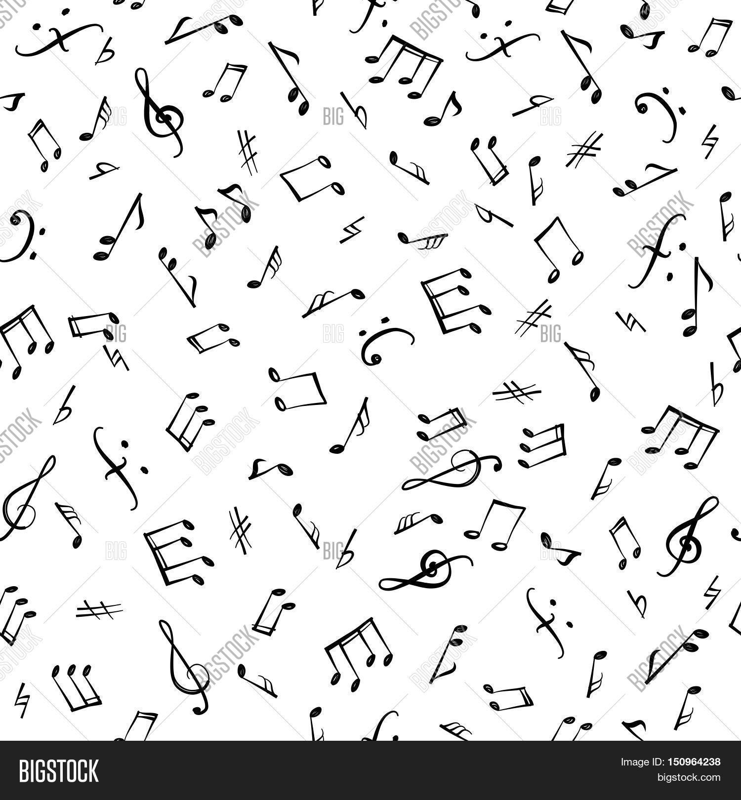 Music Note Pattern Interesting Decorating Design