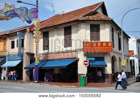 Little India District In Singapore