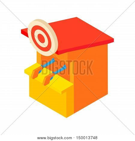 Shooting gallery icon in cartoon style isolated on white background. Entertainment symbol vector illustration