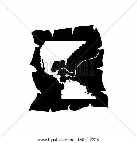 Map of discovery of America icon in simple style isolated on white background. Territory symbol vector illustration