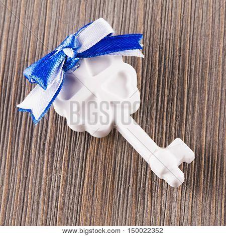 White Ceramic Key