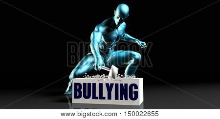 Get Rid of Bullying and Remove the Problem 3D Illustration Render