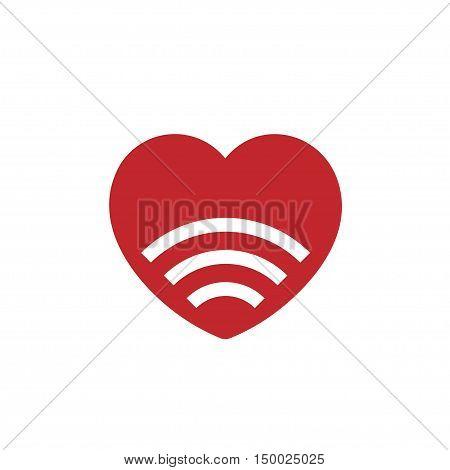 signal love icon ,love WiFi logo vector, love WiFi zone logo