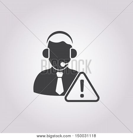 Illustration Of Call Center Icon In Pattern Style Isolated On Background. Stock Vector Illustration.