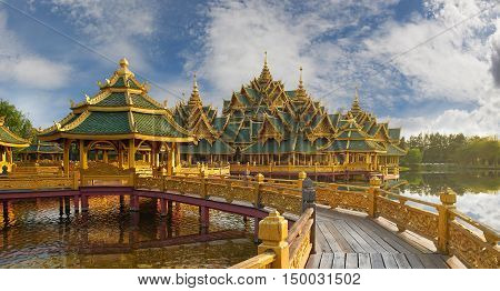 Pavilion Of The Enlightened,ancient Cityf Bangkok