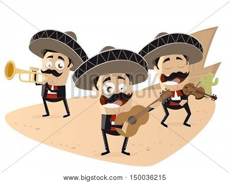 mexican mariachi band clipart