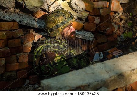 Soldier In Ruins