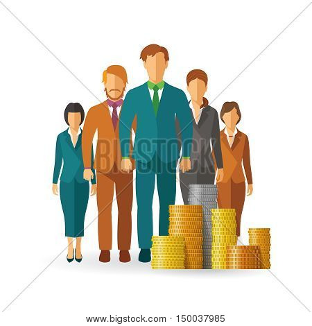 Personnel Expenses Vector Concept In Flat Style