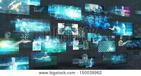 Digital Marketing Platform and Effective Technology Promotion 3D Illustration Render