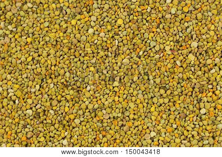 Close up of Bee Pollen texture natural background apiculture.