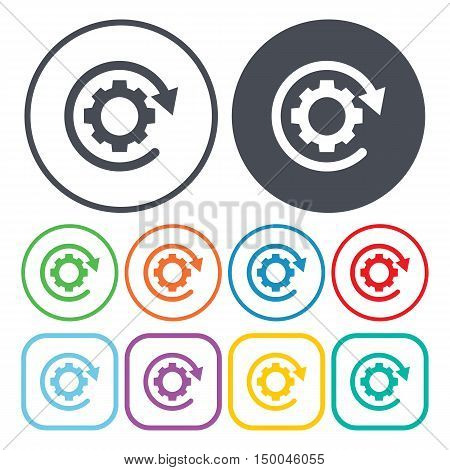 vector illustration of gear icon in simple style isolated on background. Stock vector symbol.