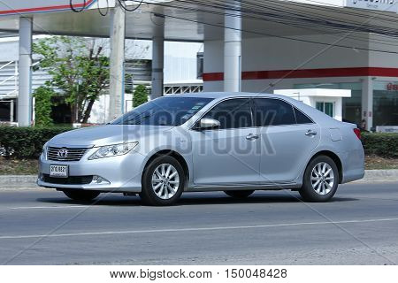 CHIANGMAI, THAILAND -FEBRUARY 29 2016:   Private car, Toyota Camry. On road no.1001, 8 km from Chiangmai city.