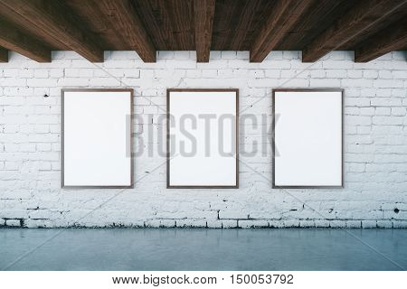 Interior With Blank Picture Frames