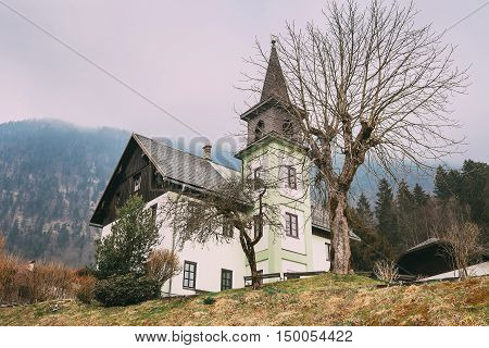 Evangelisches Bethaus Obertraun Village church , Upper Austria