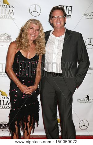 LOS ANGELES - SEP 30:  Kelly Nelson Brown, Charlie Jones at the catalina Film Festival - Friday at the Casino on September 30, 2016 in Avalon, catalina Island, CA