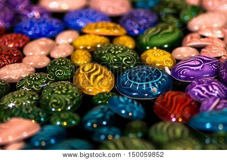 Beautiful and colorful jewelry from Iznik, Turkey