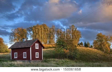 Old wooden house in Sweden