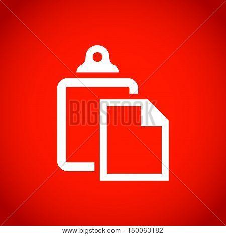 paste icon stock vector illustration flat design