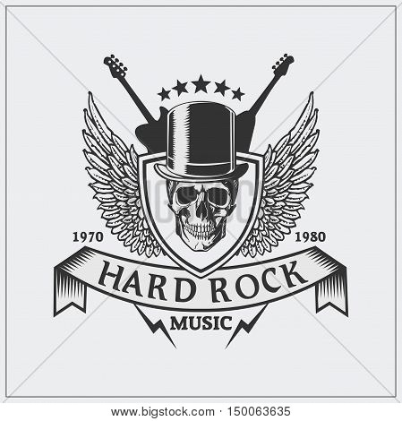 Label on hard rock with a Jolly Roger.