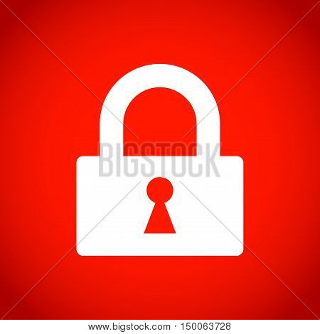 lock icon stock vector illustration flat design