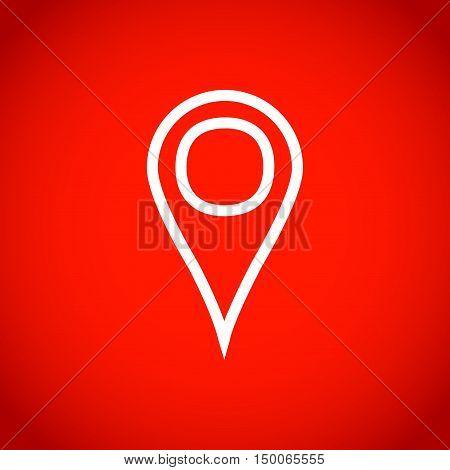 navigation icon stock vector illustration flat design