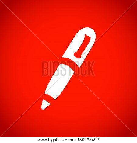 pen icon stock vector illustration flat design