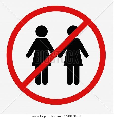 No Women Sign