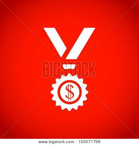 medal icon stock vector illustration flat design
