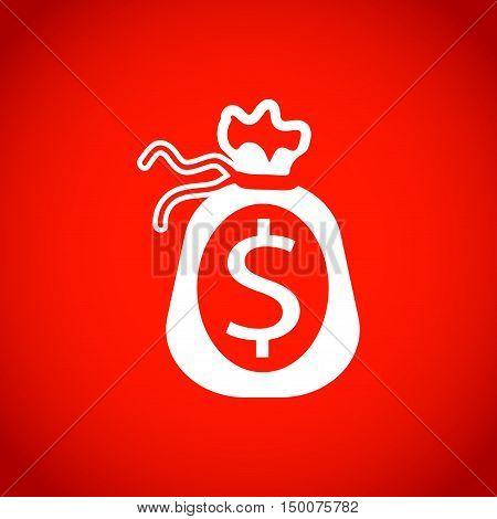 Money bag icon stock vector illustration flat design