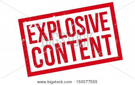 Explosive Content Rubber Stamp