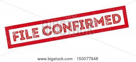 File Confirmed Rubber Stamp