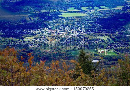"""""""In the valley""""  View of North Adams from Mt. Greylock Lanesboro Massachusetts"""