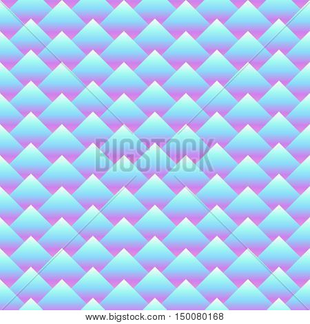 Vector seamless rhombus abstract pattern. Gradient filling. Three dimentional effect. Modern pastel colors
