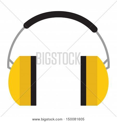 Protective ear muffs isolated on a white background. Ear protection, headphones icon.