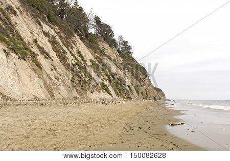 Quiet Beach on a Cloudy Day on Burro Arroyo Beach in Santa Barbara California