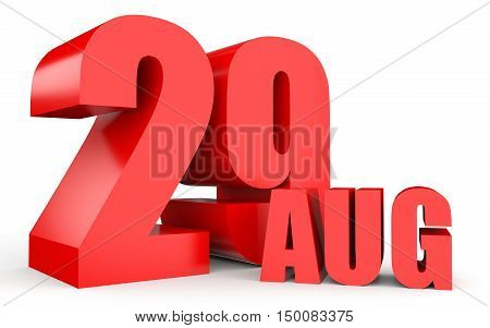 August 29. Text On White Background.