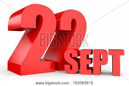 September 22. Text On White Background.