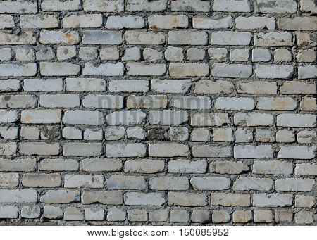 White brick wall from a silicate brick