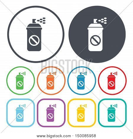 aerosol icon on white background for web