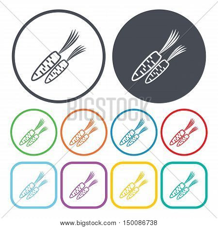 carrots icon on white background for web