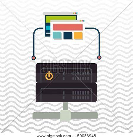 data base web page vector illustration eps 10