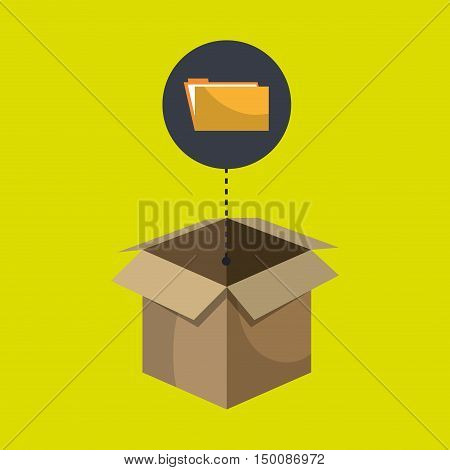 box folder files organize vector illustration eps 10