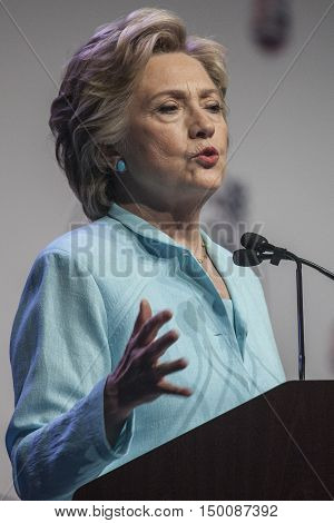 5 August 2016 - WashingtonDC - Secretary Hillary Clinton speaks in front of NABJ and NAHJ convention.