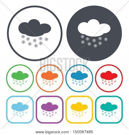 snow icon on white background for web